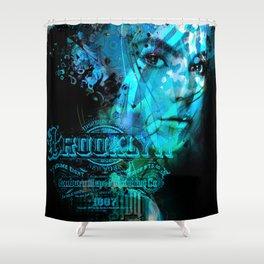 Brooklyn Blue Shower Curtain