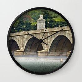 Morning Mist on the Potomac Wall Clock