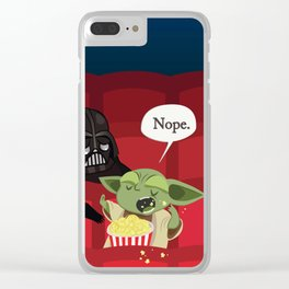 May I have some popcorn? Nope. Clear iPhone Case