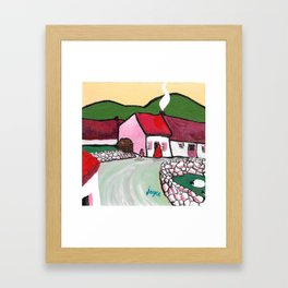 The West of Ireland - Getting the turf Framed Art Print