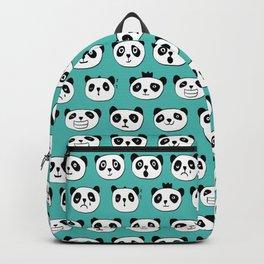 emotional panda pattern Backpack