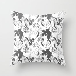 Grey Throw Pillow