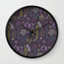 Medieval Botanial Wall Clock