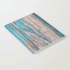 Rustic turquoise weathered wood shabby style Notebook