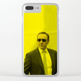 Kevin Spacey - Celebrity (Florescent Color Technique) Clear iPhone Case