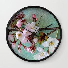"Cherry blossoms on ""Wa-shi""  -桜に和紙 Wall Clock"