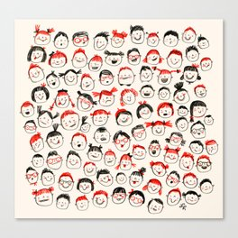 Silly Faces Canvas Print