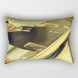 Old Blue Eyes and LPs Rectangular Pillow