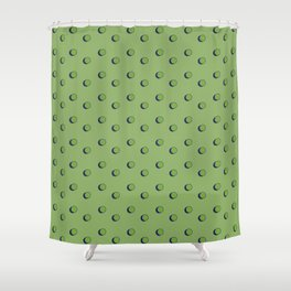 3D Dotted Pattern Shower Curtain