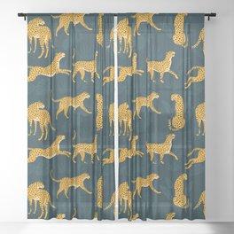 Leopard pattern Black Sheer Curtain