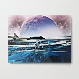 Translucent Planet by GEN Z Metal Print