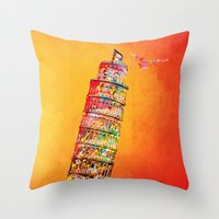 italy Throw Pillows featuring Italy  by mark ashkenazi