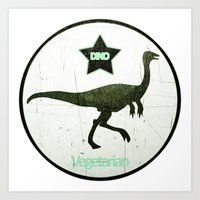 Vegetarian Dinosaurs Art Print