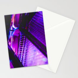 Neon Piano Stationery Cards