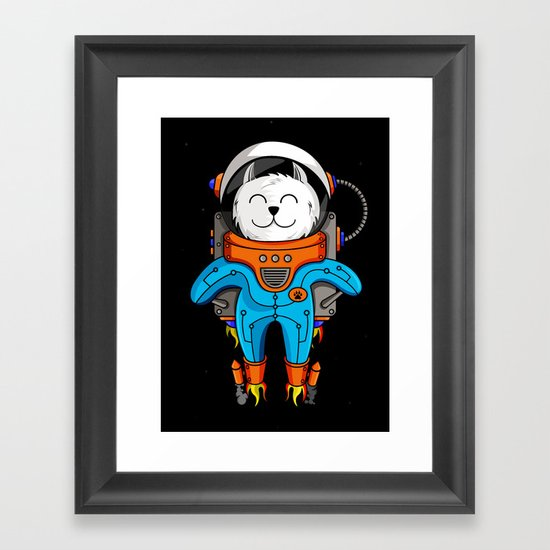 Intercatlactic! to the delicious Milky way!!! Framed Art Print