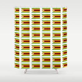 Flag of zimbabwe -Zimbabwe,Zimbabwean,Zimbo,harare,Bulawayo Shower Curtain