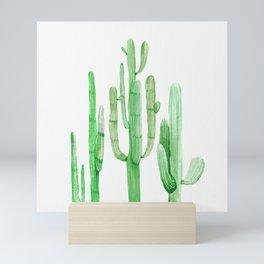 Three Amigos Cacti Green Mini Art Print