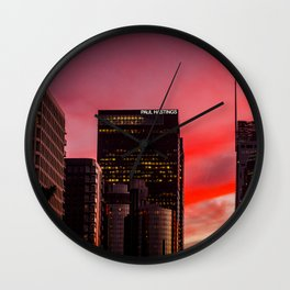 Skyscapes in Los Angeles Wall Clock