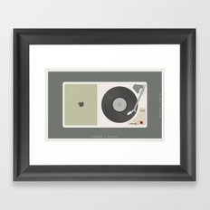 Analog vs. Digital (round II)  Framed Art Print