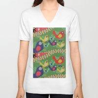 rio V-neck T-shirts featuring Rio 002 by Maca Salazar