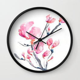 Japanese Magnolia Wall Clock