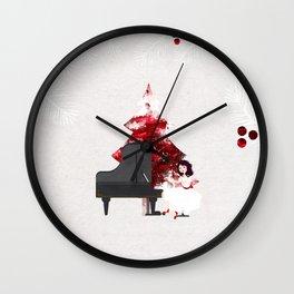 Music for Christmas time Wall Clock