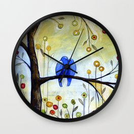 Garden for Two Wall Clock
