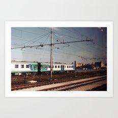 Padova Train Ride Art Print