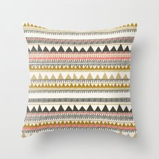 Mountain triangle pattern Throw Pillow