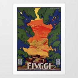 Vintage Italian travel Fiuggi springs Art Print