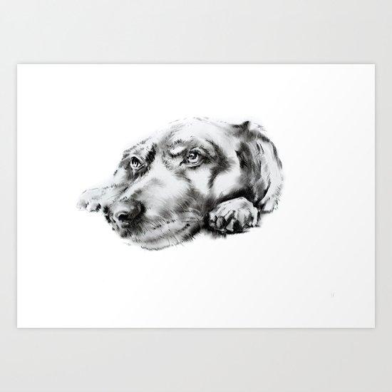 My dog Art Print