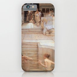 A Favourite Custom 1909 by Sir Lawrence Alma Tadema | Reproduction iPhone Case