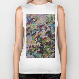 Unchained: Bold and Colorful Orginal painting Biker Tank