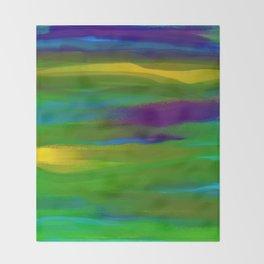 Green Mardi Gras Abstract Throw Blanket