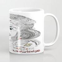einstein Mugs featuring Einstein by Ina Spasova puzzle