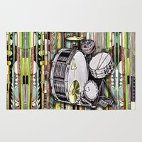 drum Area & Throw Rugs featuring Drum Kit by JustinPotts