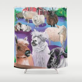 Kismet Creek Farm Animal Sanctuary Shower Curtain