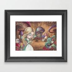 Alice returns Framed Art Print