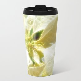Pale Yellow Poinsettia 1 Angelic Travel Mug
