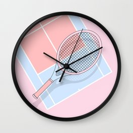 Hold my tennis racket Wall Clock