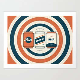 The Beer Brewing Company - Red Art Print