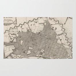 Vintage Map of Lima Peru (1764) Rug