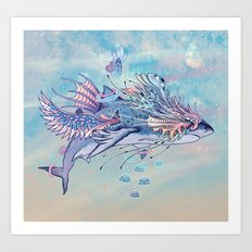 Journeying Spirit (Shark) Art Print