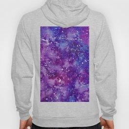 Artistic white paint splatters pink purple watercolor Hoody