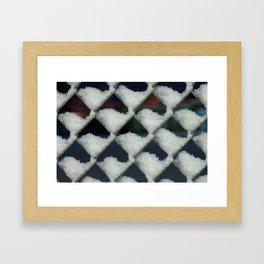Chain Link Framed Art Print