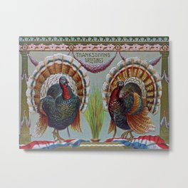 Thanksgiving Greetings 1906 Metal Print