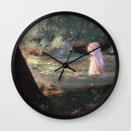 Nymph in Afternoon Wall Clock