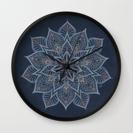 Essence - blue/multi Wall Clock