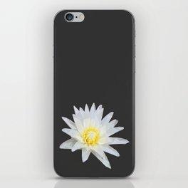 White Lotus Flower iPhone Skin
