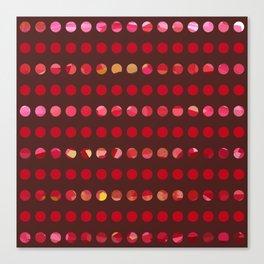 Pink Circles-a-Plenty Canvas Print